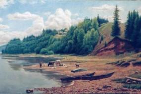 На берегу. Река Вятка