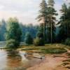На берегу лесного озера